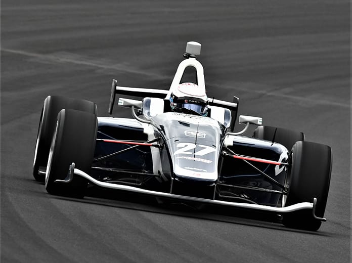 Robert Megennis was fastest in Freedom 100 testing on Monday at Indianapolis Motor Speedway. (Al Steinberg Photo)
