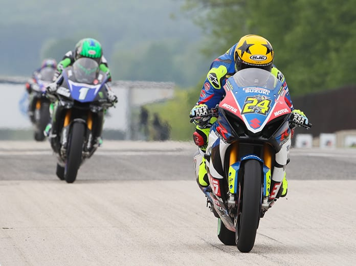 Toni Elias (24) raced to victory Saturday at Road America. (Brian J. Nelson Photo)