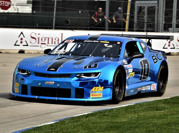 Misha Goikhberg raced to victory in Saturday's Trans-Am Series TA2 class event at Belle Isle Park. (Al Steinberg Photo)