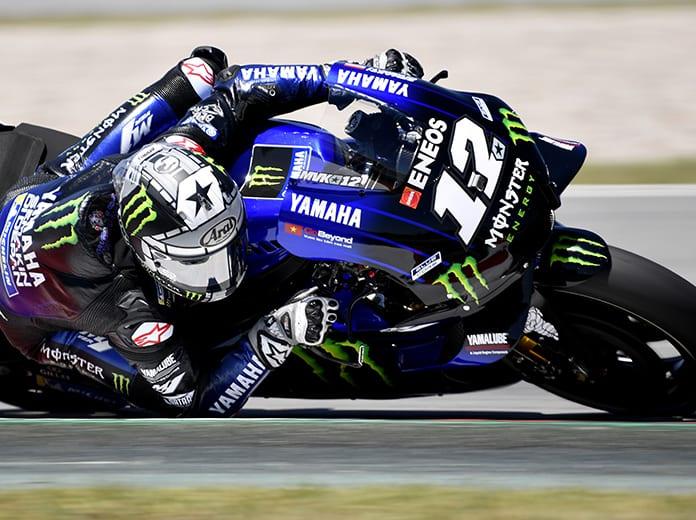 Maverick Viñales took the top sport during Monday's MotoGP test at Circuit de Barcelona-Catalunya. (Yamaha Photo)