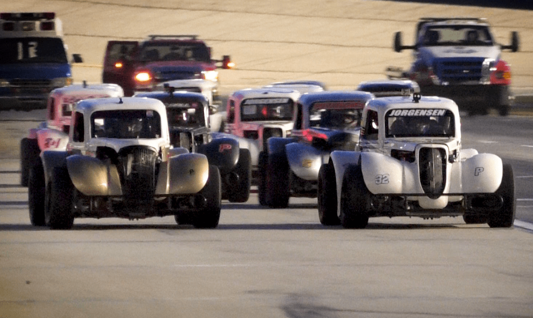 Legend Car action at Thursday Thunder during Atlanta Motor Speedway.