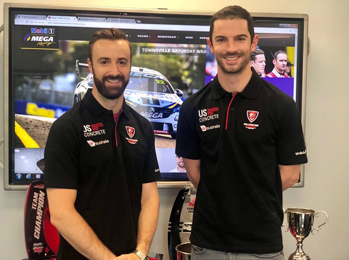 James Hinchcliffe (left) and Alexander Rossi will compete in the Bathrust 1000 later this year.