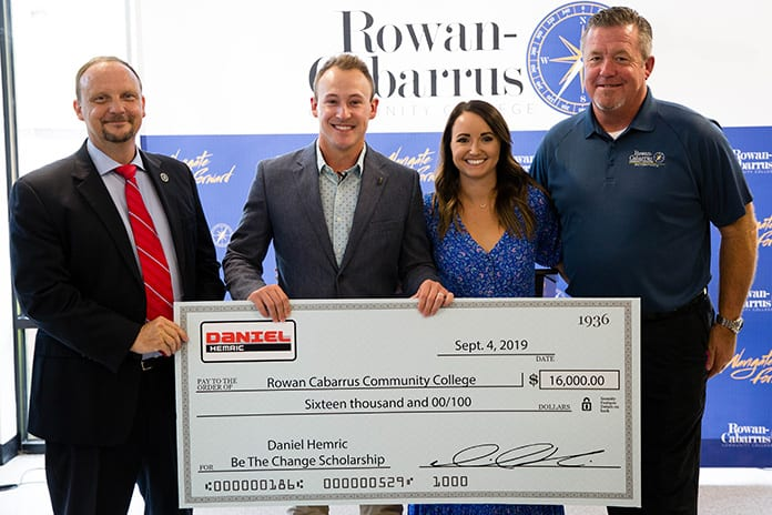 Daniel Hemric has partnered with Rowan-Cabarrus Community College to establish a scholarship for students interested in pursuing careers in motorsports, welding or mechanical engineering.