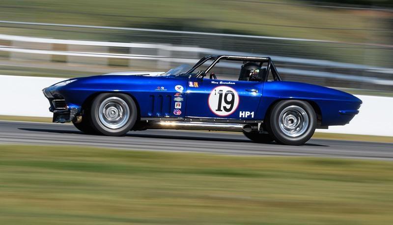 Bill Elliott at speed Saturday during the HSR Fall Classic at Michelin Raceway Road Atlanta.