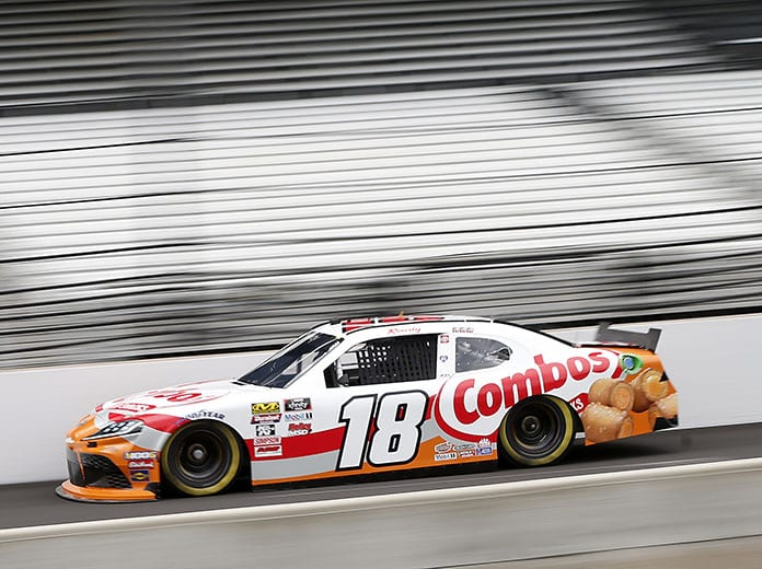 Kyle Busch raced to the pole for Saturday's NASCAR Xfinity Series event at Indianapolis Motor Speedway. (NASCAR Photo)