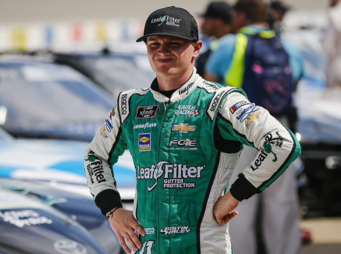 Justin Haley, shown here earlier this year, has been eliminated from the NASCAR Xfinity Series playoffs. (HHP/Barry Cantrell Photo)