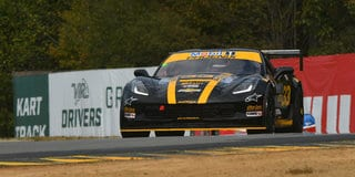 Andrew Aquilante on his way to the GT-2 National championship at Virginia int'l Raceway. (Jay Bonvouloir Photo)