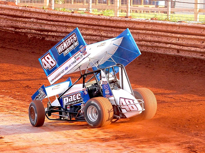 Danny Dietrich raced to victory on Saturday afternoon at BAPS Motor Speedway. (Dan DeMarco Photo)
