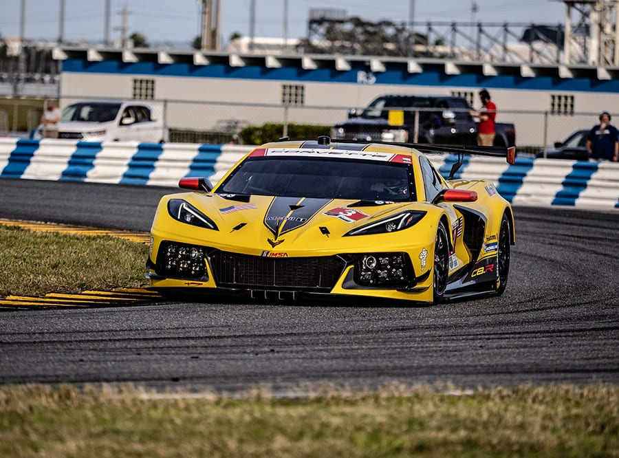 The Corvette Racing Chevrolet Corvette C8. R made its on track debut during the Roar Before the 24 test. (Jason Reasin Photo)