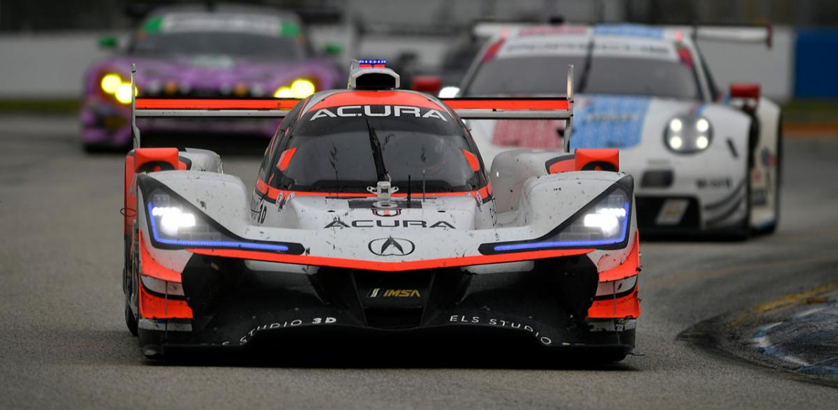 Team Penske's Acura Motorsports team tested at Sebring Int'l Raceway in advance of the Twelve Hours of Sebring. (IMSA Photo)