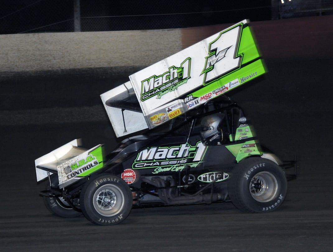 Mark Smith, shown earlier this season, won Friday's USCS feature at Hattiesburg Speedway. (Steve Bischoff photo)