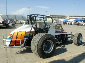 A side view of the No. 18 Kenny Rogers Racing Team sprint car that was once driven by Danny Smith. (Doug Auld Photo)
