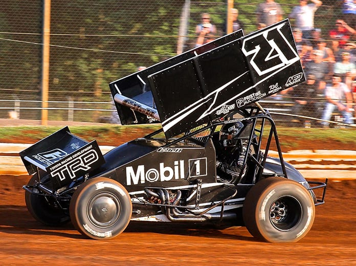 Christopher Bell was back in a sprint car for the first time since December on Monday at Lincoln Speedway. (Dan Demarco Photo)