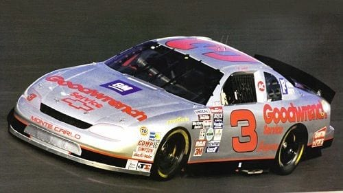 Dale Earnhardt's silver GM Goodwrench Chevrolet was run in the 1995 All-Star Race at Charlotte Motor Speedway.