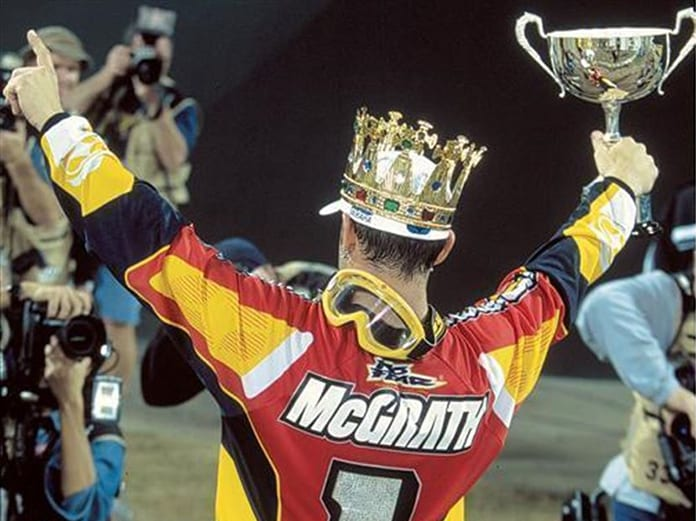 Jeremy McGrath won seven Supercross championships during his lengthy career, earning him the title of