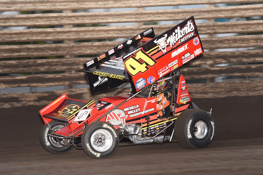 David Gravel at Knoxville Raceway. (Paul Arch photo)