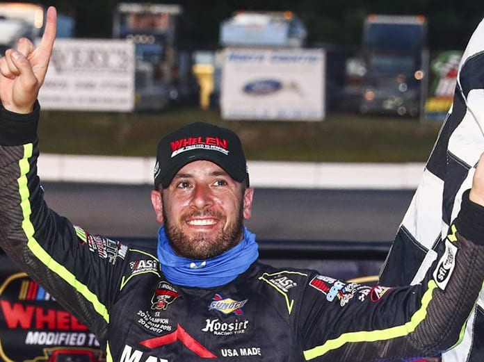 Doug Coby earned his first victory as a driver/owner on Saturday at White Mountain Motorsports Park. (Adam Glanzman/NASCAR Photo)