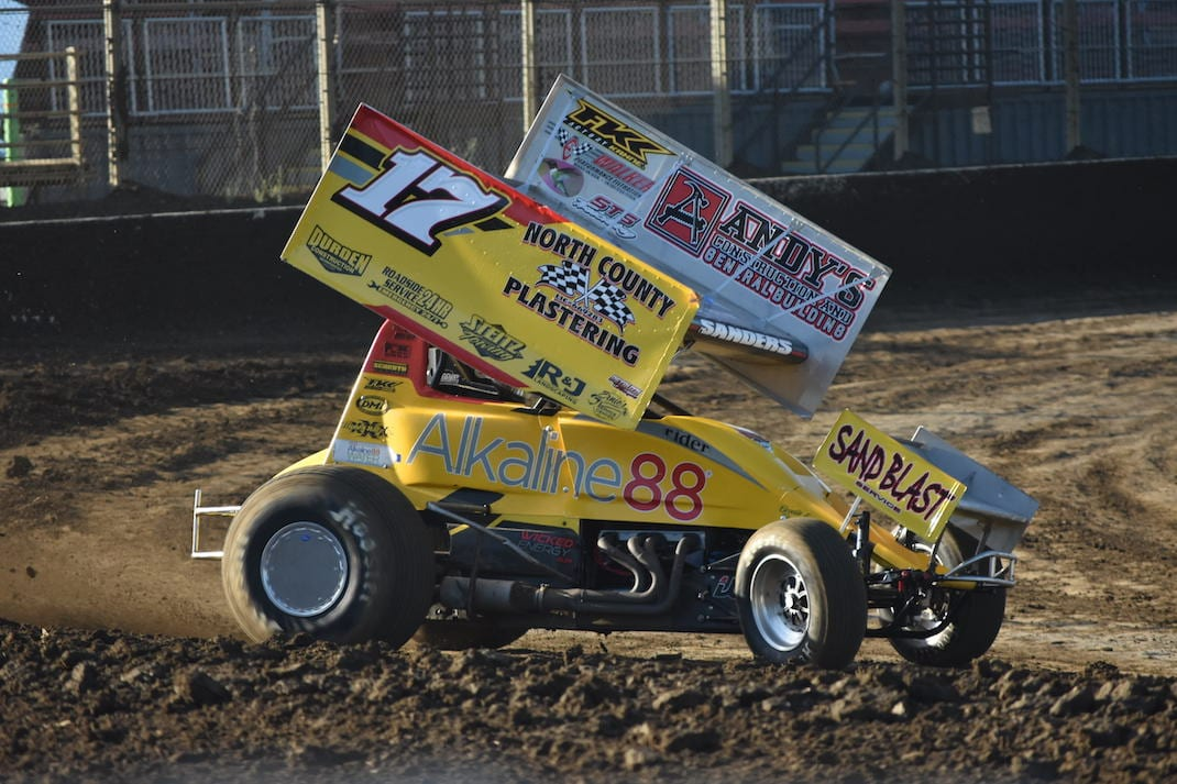 Justin Sanders at Ocean Speedway. (Joe Shivak photo)