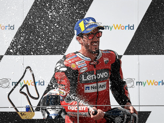 Andrea Dovizioso was the winner of a chaotic MotoGP Austrian Grand Prix on Sunday. (MotoGP Photo)