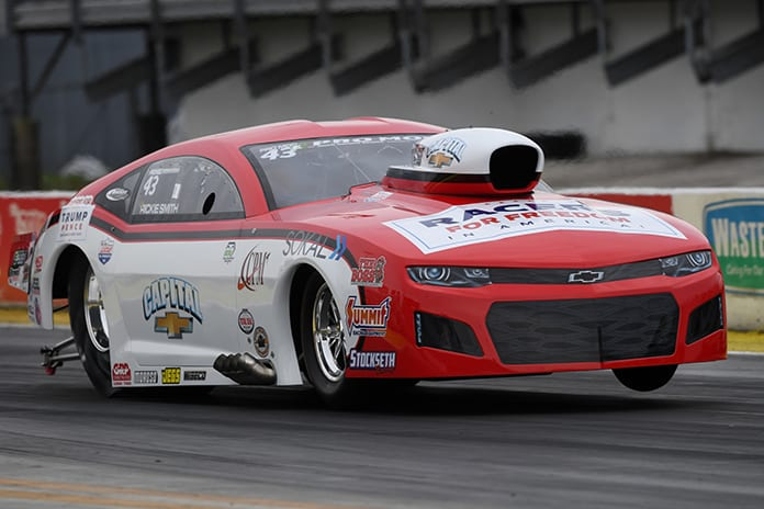 Rickie Smith topped Sunday's E3 Spark Plugs NHRA Pro Mod Drag Racing Series round at Gainesville Raceway. (NHRA Photo)