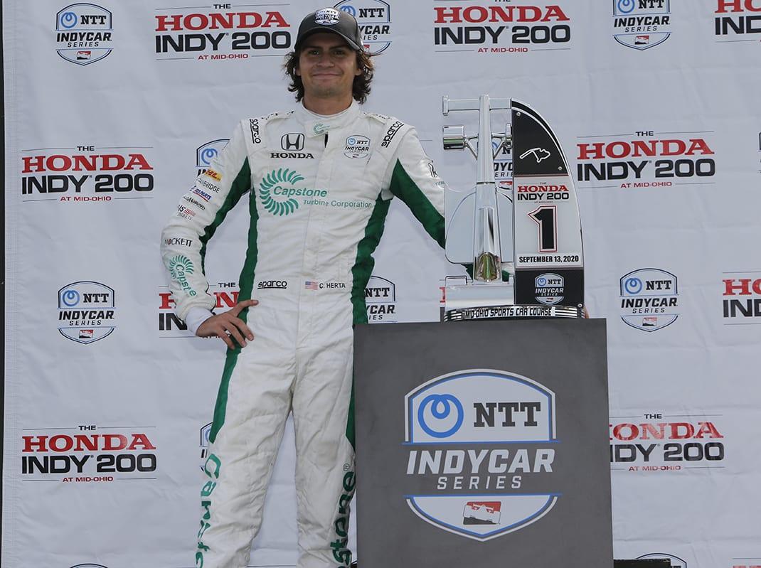 Colton Herta wins at Mid-Ohio (IndyCar Photo)