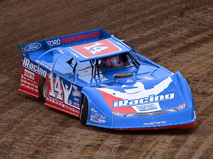 Josh Richards, shown here at Eldora Speedway, won Friday's Lucas Oil Late Model Dirt Series feature at Brownstown Speedway. (Mike Campbell Photo)