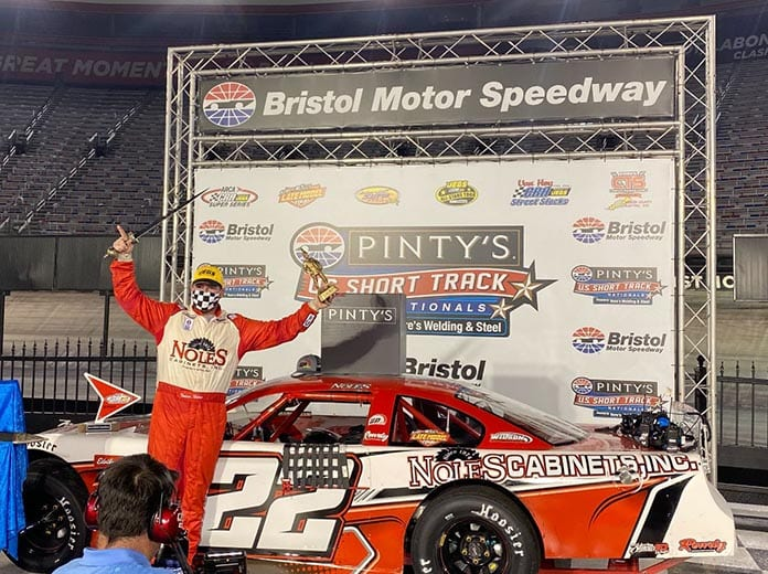 Trevor Noles headlined the list of winners during the Pinty's U.S. Short Track Nationals at Bristol Motor Speedway.