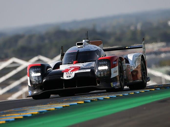 Kamui Kobayashi put Toyota Gazoo Racing on the pole for the 88th 24 Hours of Le Mans. (Toyota Photo)