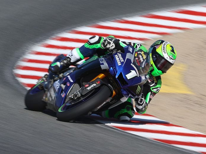 Cameron Beaubier rocketed to the MotoAmerica Superbike pole at WeatherTech Raceway Laguna Seca. (Brian J. Nelson Photo)