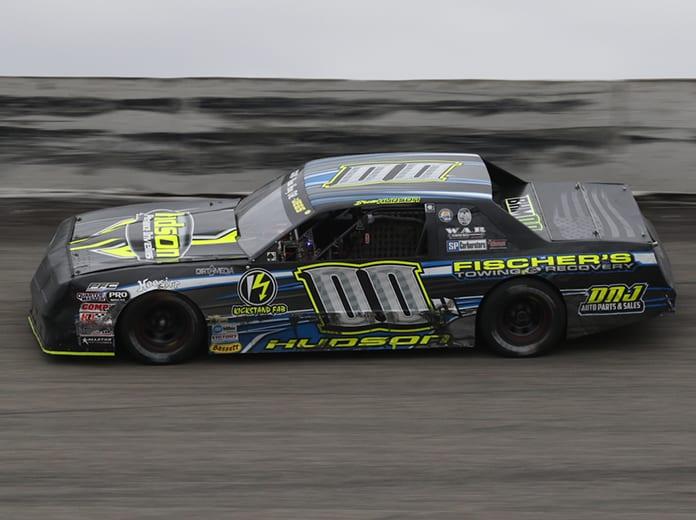 Brett Hudson won the 32nd running of the Halloween 200 Sunday afternoon at Salem Speedway. (Neil Cavanah Photo)