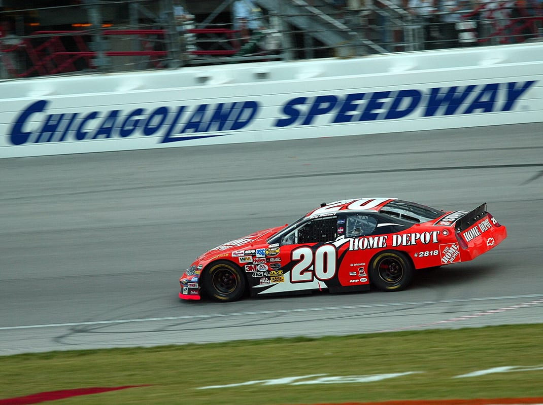 Tony Stewart Chicagoland 2004 (Sherryl Creekmore/NASCAR Photo)