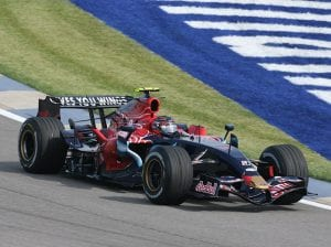 Scott Speed at Indianapolis Motor Speedway during the 2007 Formula One season. (IMS Photo)