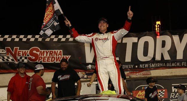 Stephen Nasse won Saturday's Orange Blossom 100 at New Smyrna Speedway. (Jim DuPont Photo)