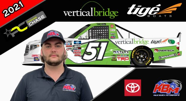 Parker Chase will compete in two NASCAR Camping World Truck Series events for Kyle Busch Motorsports.