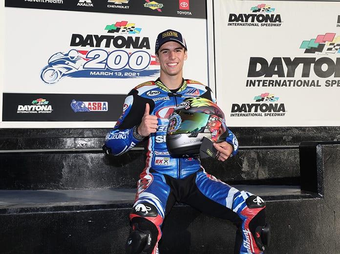 Sean Dylan Kelly Secures Daytona 200 Pole