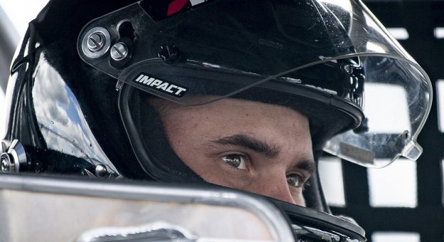 Tyler Rypkema, driver of the #32 Welcorp/Musco Chevrolet, looks on during the Musket 200 Presented by Whelen for the NASCAR Whelen Modified Tour at New Hampshire Motor Speedway in Loudon, New Hampshire on September 11, 2020. (Maddie Malhotra/NASCAR)