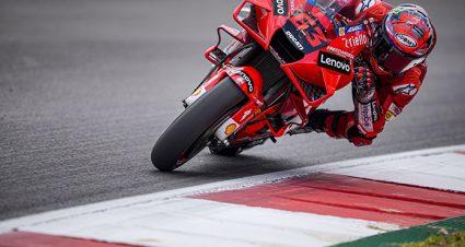 Bagnaia Fastest In Portugal As Marquez Returns