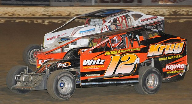 Jack Johnson (12A) at Ohio's Sharon Speedway in 2009. (Mike Gbur Photo)