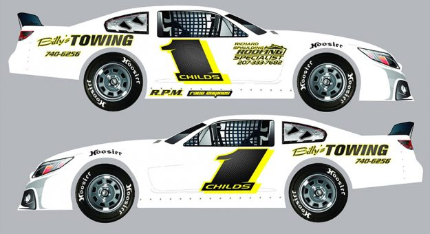Billy Childs Jr. will run a partial super late model season this year at Oxford Plains Speedway.
