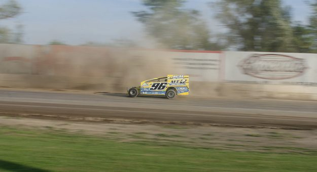 Billy Pauch Jr. in action last July at Fonda Speedway. (Dylan Friebel Photo)