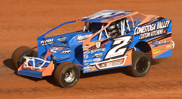 Mike Gular set the fastest lap time during Super DIRTcar Series practice Thursday at Bristol Motor Speedway. (Paul Arch Photo)