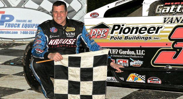 Craig Von Dohren in victory lane Thursday at Grandview Speedway. (Dan Demarco Photo)