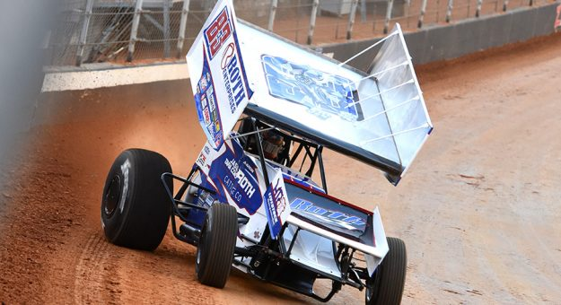 Aaron Reutzel made the top work en route to a runner-up finish on Friday at Bristol Motor Speedway. (Paul Arch Photo)
