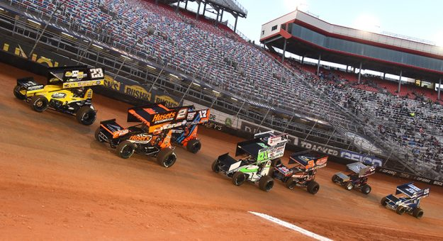 The racing surface for the Bristol Throwdown has been met with rave reviews. (Paul Arch Photo)