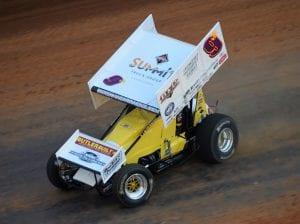 Derek Hagar in action Thursday at Bristol Motor Speedway. (Jacob Seelman photo)