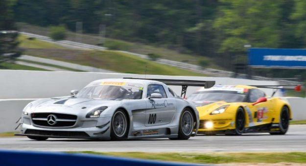 Eric Lux drove a Mercedes to victory at Road Atlanta. (HSR photo)