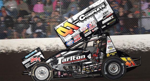 Carson Macedo has moved to the top of the National Sprint Car Rankings. (David Nearpass photo)