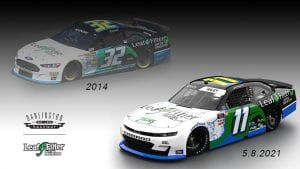 Justin Haley will throw back to LeftFilter's first NASCAR Cup Series primary sponsorship in 2014 during the throwback weekend at Darlington Raceway.