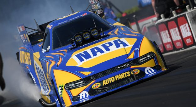 Ron Capps is hoping to end Atlanta Dragway's history with a Funny Car victory during the Southern Nationals. (NHRA Photo)