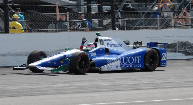 2017 Indy 500 Takuma Sato Action Mike Young Photo